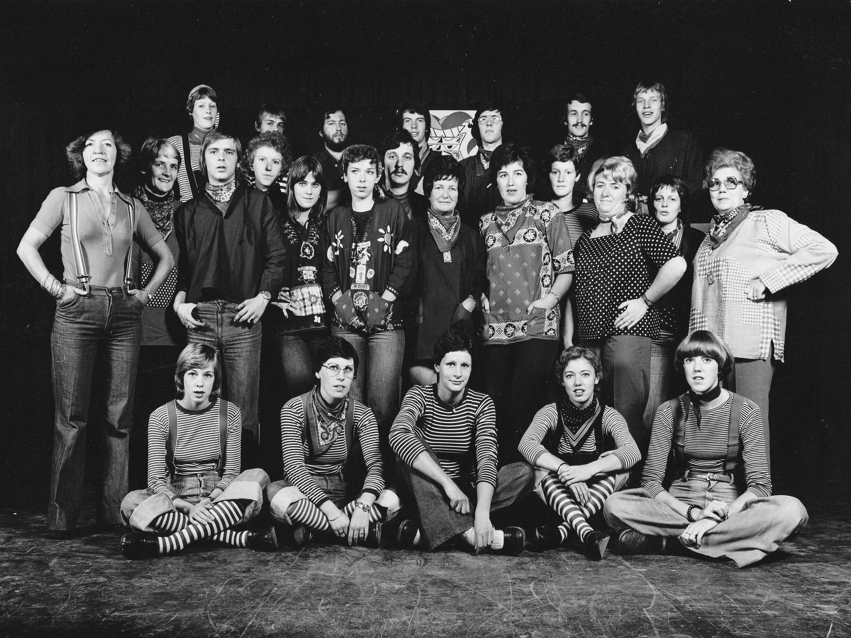 10.-Zanggroep de A muzikalen seizoen 1976-1977